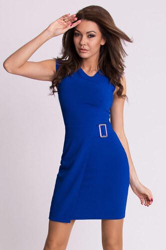 Dámské společenské krátké šaty EMAMODA modré - L - Glami.cz 4fee39f7b6