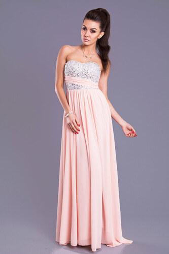 Dámské dlouhé společenské plesové šaty EVA LOLA růžové - Glami.cz 536de9f8fb