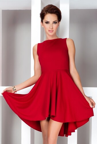 70269c4392ee numoco Dámské šaty exkluzivní vyrobené z vysoce kvalitního materiálu Lacoste  červené