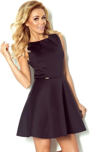 numoco Luxusní dámské společenské a plesové šaty bez rukávu černé ... d9a8798137