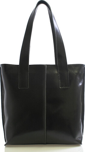 Černá kožená kabelka přes rameno ItalY Sabrina černá - Glami.cz aaefb50b47