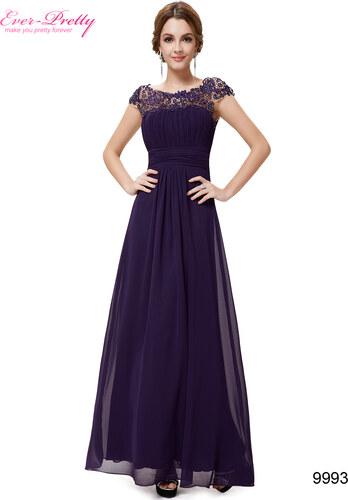7406108f8f4 Ever Pretty plesové šaty s krajkou fialové 9993 S - Glami.cz