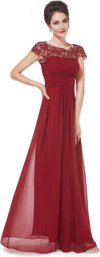 7553264b9372 Ever Pretty plesové šaty s krajkou bordo 9993 - Glami.cz