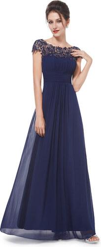 f5d9dac10de Ever Pretty plesové šaty s krajkou tmavě modré 9993 - Glami.cz