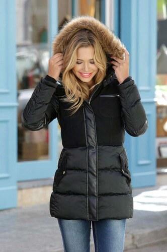 AJC Dámská nebo dívčí černá zimní bunda AJC cf0c6fcd1a