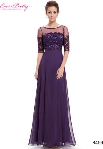 Elegantní Ever Pretty plesové šaty fialové 8459 - Glami.cz 96e62392959