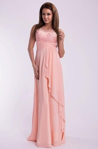 Dámské dlouhé plesové šaty EVA LOLA růžové - Glami.cz 00626652de