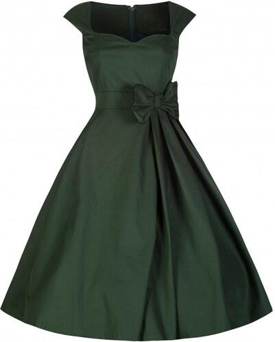 GRACE zelené myslivecké šaty inspirované padesátými léty - Retro šaty 34c2009da0