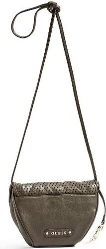 GUESS kabelka Perforated Crossbody-zelená