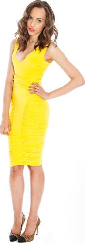 58a436e48d7 goddess LONDON Výrazně žluté přiléhavé šaty ke kolenům Barva  Žlutá ...