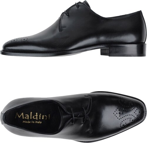 MALDINI Chaussures à lacets homme.  Noir (Black/Black-Dark Grey) 2XBAL5g