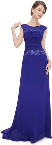 f08f7fe225da Plesové šaty s krajkou modré - romantické Ever Pretty 8369 - Glami.cz