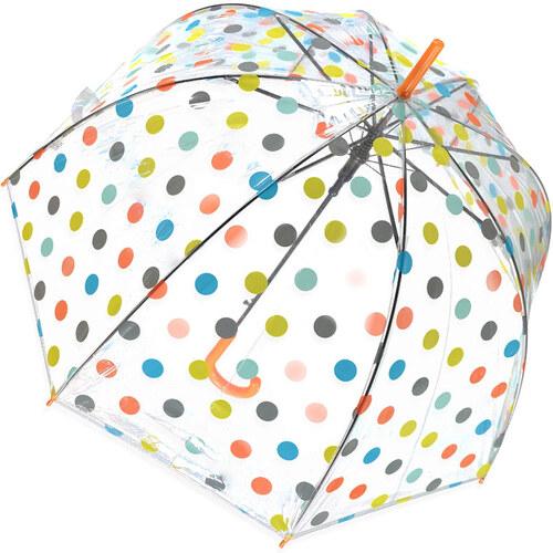 Tom Narancssárga átlátszó esernyő Dots - Glami.hu edfe53151e