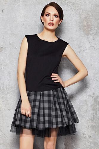 eca0f71946a7 Infinite You Šedo-černá károvaná sukně M035 - Glami.cz