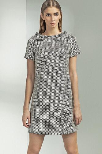 Nife Čierno-biele šaty S54 - Glami.sk 0583ebef316
