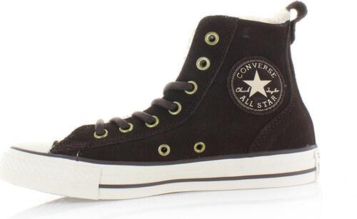 Converse Dámské tmavě hnědé vysoké tenisky Chuck Taylor All Star Chelsee 6f92705dd7