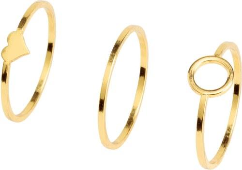 H M Balení  3 pozlacené prsteny - Glami.cz c09f2a1522