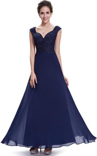 Elegantní Ever Pretty plesové šaty modré 8598 - Glami.cz 9c8fd0b2cc