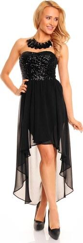 4d7e985eb3a0 Dámské společenské šaty korzetové MAYAADI s asymetrickou sukní černé ...