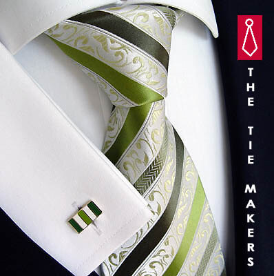 cef8a87027f Beytnur Svatební hedvábná kravata zelená 177-3