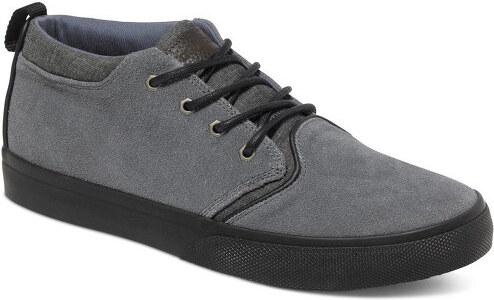 Quiksilver Kožené topánky Griffin Suede Shoe Grey   Grey   Grey AQYS300005- XSSS b83353ebfb