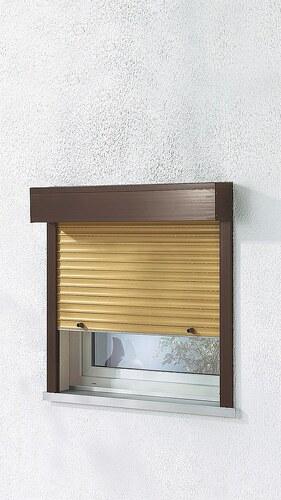 Kunststoff »Vorbau-Rollladen« Festmaß, BxH: 160x150 cm, holzfarben-braun
