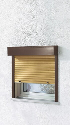 Kunststoff »Vorbau-Rollladen« Festmaß, BxH: 100x130 cm, holzfarben-braun