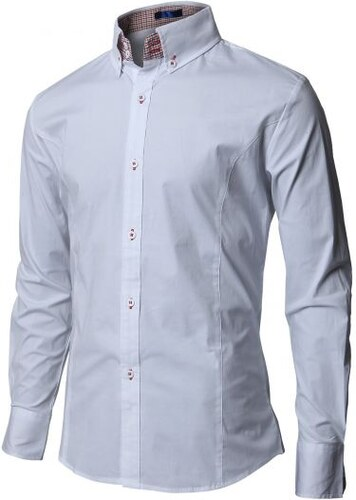 Moderní pánská košile bílá slim - Glami.cz 618d607481