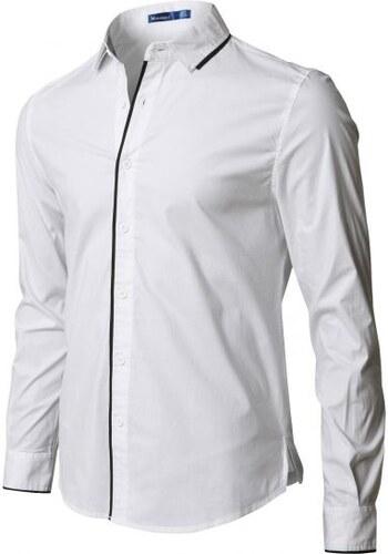 Pánská košile moderní bílá slim - Glami.cz 23c770b77d