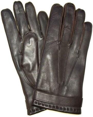 Pánské kožené rukavice z italské jehnětiny hnědé - Glami.cz 85d5c4ede6