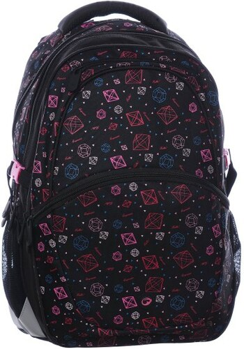 Školní batoh Madison 0115 A black pink - doprava zdarma 3dda2a9f39