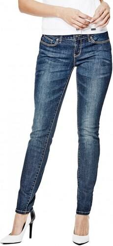 d27445522fe GUESS Dámské džíny Sienna Curvy Skinny Jeans - dark wash - Glami.cz