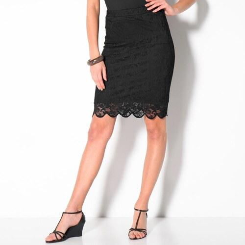 7d66f42106ea Blancheporte Čipkovaná sukňa čierna - Glami.sk