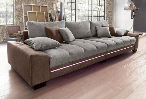 Big-Sofa mit Beleuchtung, wahlweise mit Bluetooth-Soundsystem