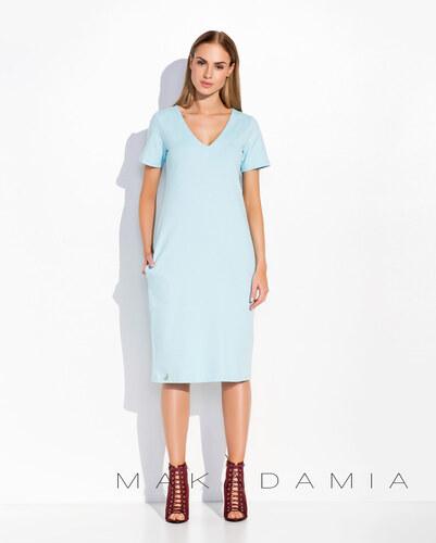 7aaadcb5a17c Dámské šaty Makadamia M294 světle modré - Glami.cz