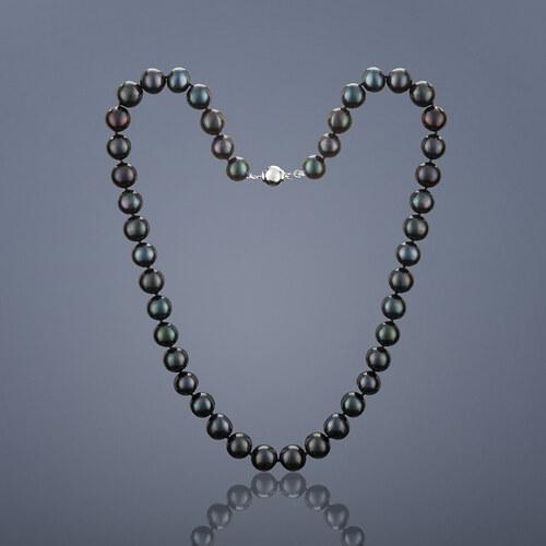 2be6373bd Buka Jewelry Perlový náhrdelník Mutiara, velké perly – černá. 45 cm 720.2