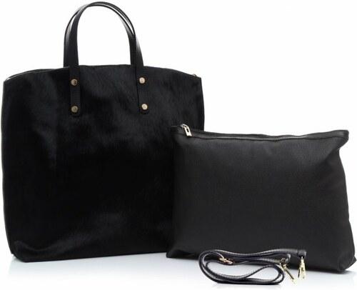 -15% Genuine Leather Kožená kabelka Shopperbag s kosmetickou kapsičkou e3e7f1eab67