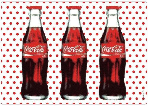 Spritzschutz »pop«, Coca Cola Dots, 59x41 cm
