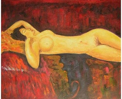 Obraz - Spící nahá žena