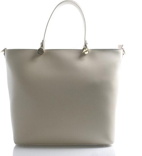 8fb74f5c55 Dámská luxusní kožená kabelka krémová - Italy Elza krémová - Glami.cz