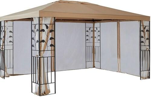 Seitenteile für Pavillon , »Modern«,»Tulpe«, »Blätter« sandfarben
