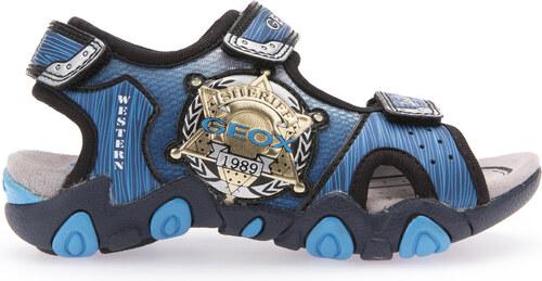 Geox Chlapecké modré svítící sandály JR Sandal Strike - Glami.cz d52a66e9d8