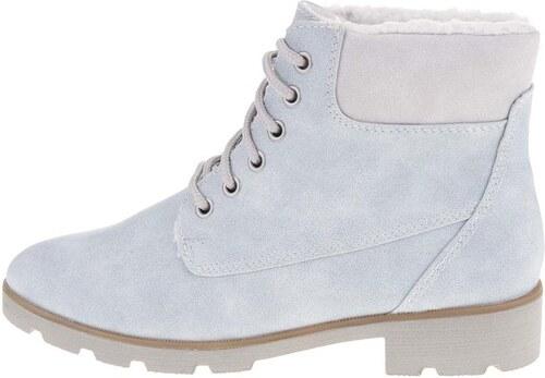 Světle modré kotníkové boty s kožíškem Tamaris - Glami.cz c6ffc421f2