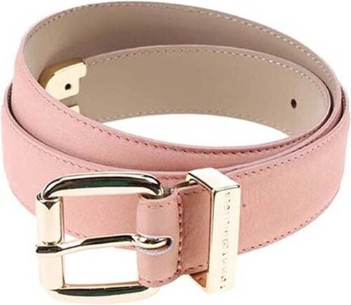 420075cb0bb Růžový dámský kožený pásek Tommy Hilfiger Melinda - Glami.cz