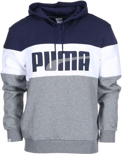 Modro-bílo-šedá pánská mikina s kapucí Puma Game - Glami.cz e0af92e664