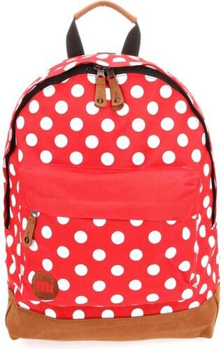 Hnědo-červený dámský batoh s bílými puntíky Mi-Pac All Polka - Glami.cz 59c2288499