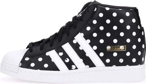 Bílo-černé dámské kožené tenisky se skrytým klínkem adidas Originals  Superstar Up bac768e34b