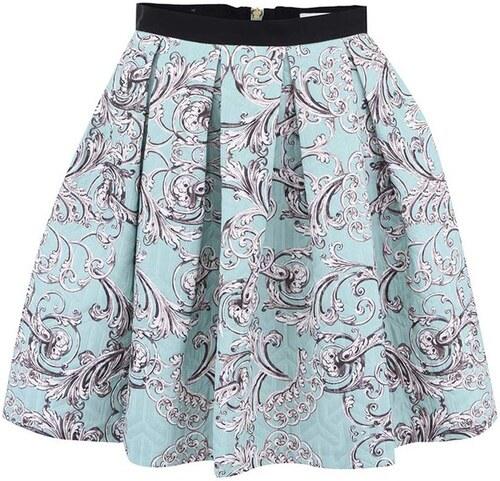 14ee8b83554f Mentolová vzorovaná sukně Closet - Glami.cz