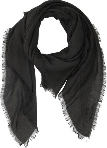 Černý šátek INVUU London s drobnými třásněmi - Glami.cz 7fa40d5327