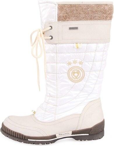 Šedo-bílé vysoké zimní boty Tamaris - Glami.cz ba731ea53e